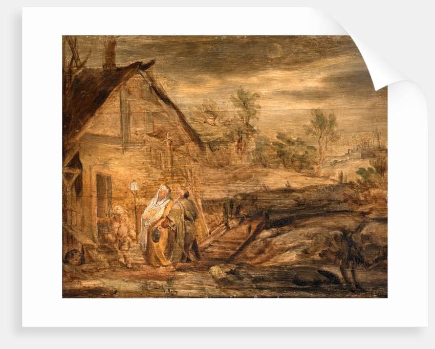 Mary and Joseph Outside the Inn by John Runciman