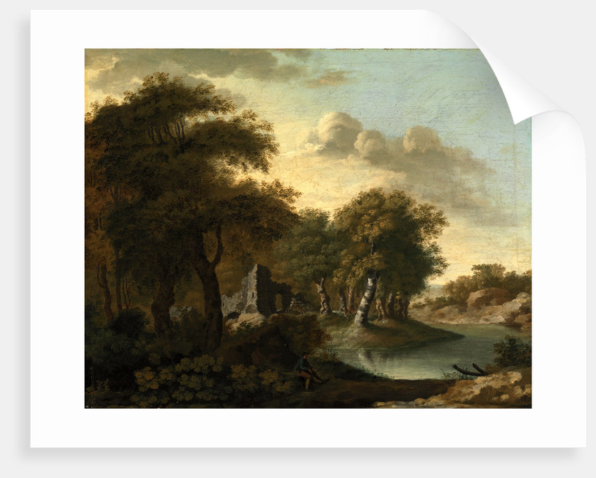 A View Near Arundel, Sussex, with Ruins by Water by George Smith