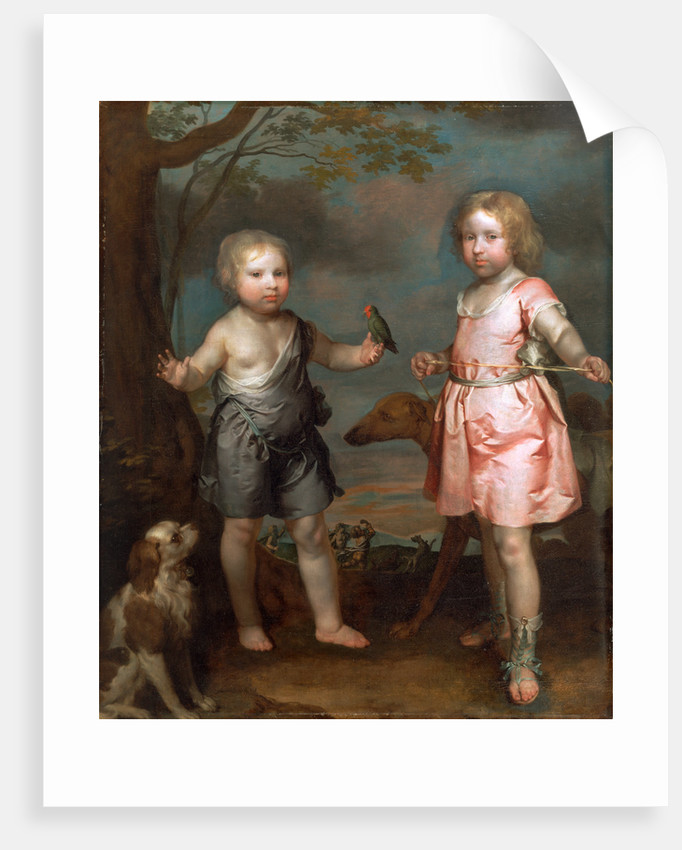 Lord John Hay and Charles, Master of Yester (later 3rd Marquis of Tweeddale), Gilbert Soest, ca. 1600-1681 by Gilbert Soest