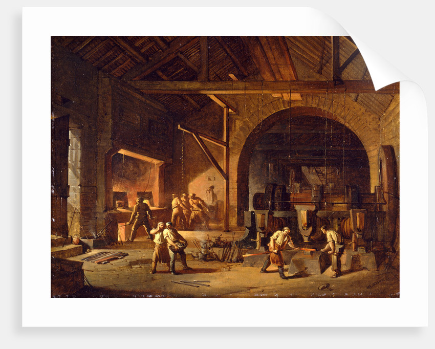 Interior of an Ironworks by Godfrey Sykes