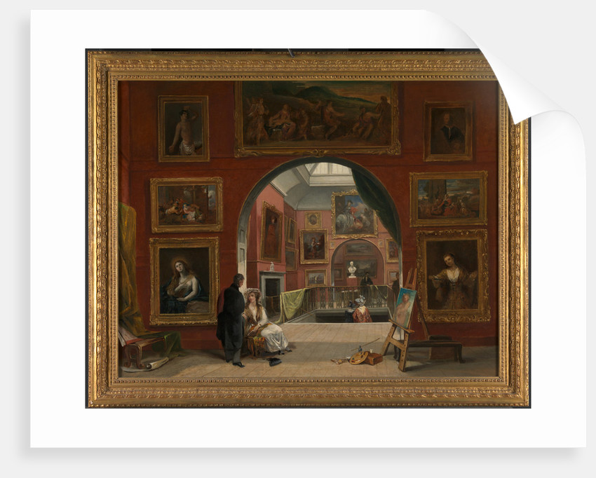 Interior of the British Institution (Old Master Exhibition, Summer 1832) by Alfred Joseph Woolmer