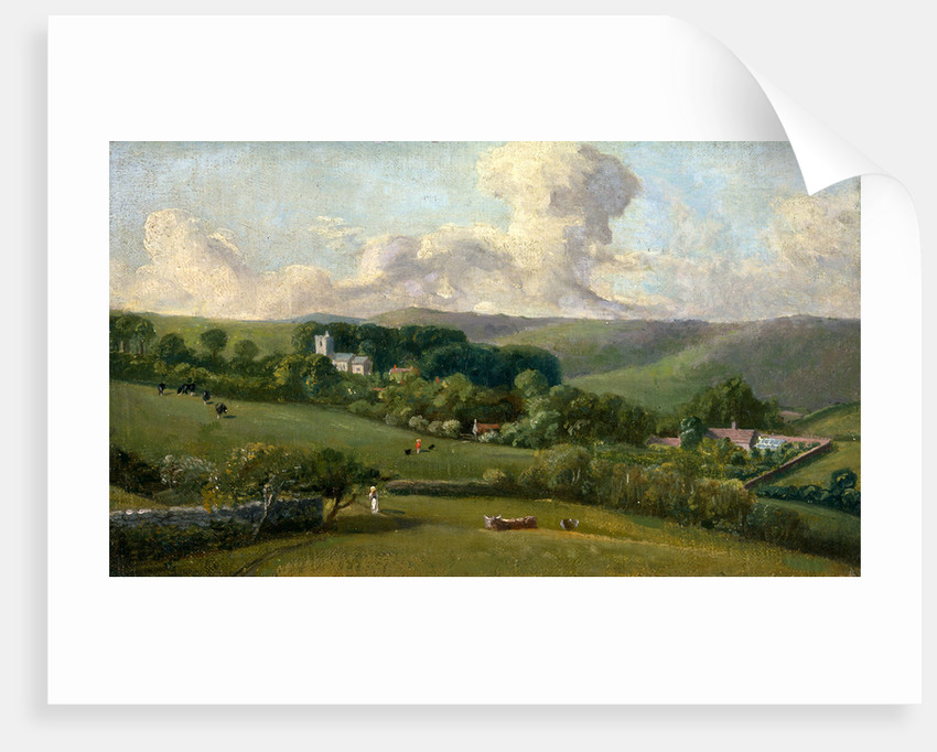 Osmington: A View to the Village, John Fisher, Bishop of Salisbury, 1748-1825 by John Fisher