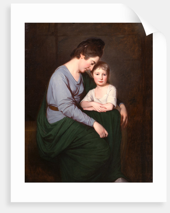 Ann Wilson with Her Daughter, Sybil Portrait of Mrs. George Wilson and her Daughter by George Romney