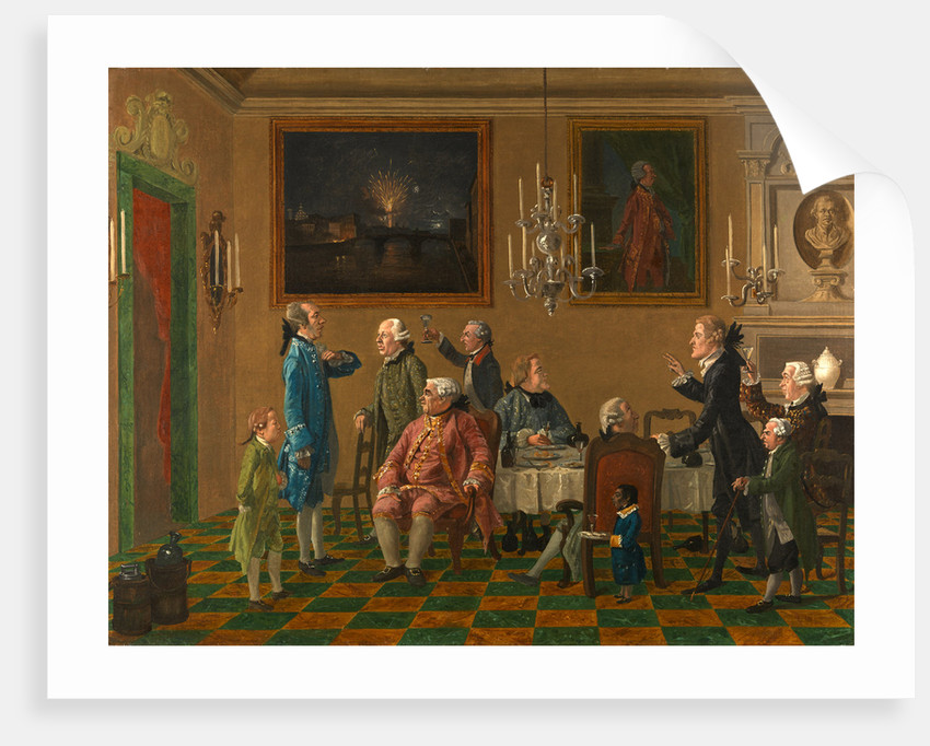 British Gentlemen at Sir Horace Mann's Home in Florence by Thomas Patch