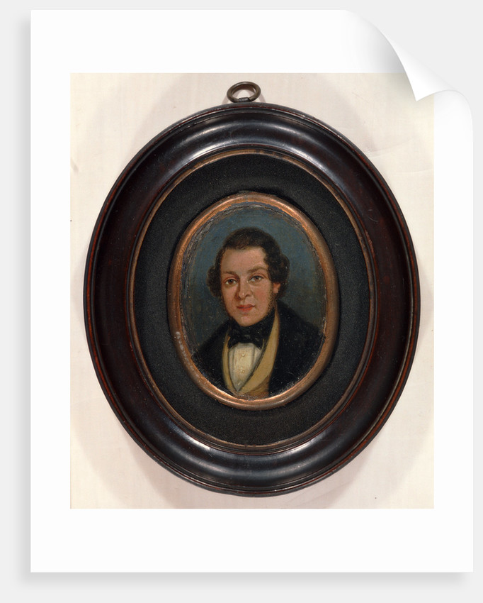 Miniature: Portrait of Abram Constable, brother of the artist by John Constable