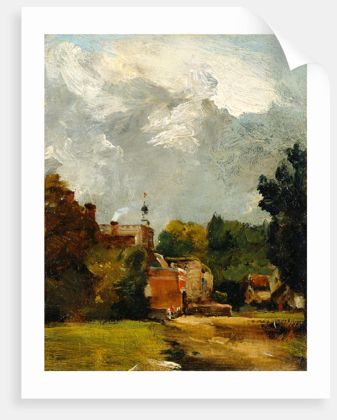 East Bergholt Church A Shower, East Bergholt by John Constable