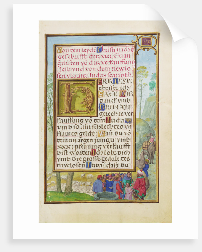 Border with Joseph Being Sold by His Brothers by Simon Bening