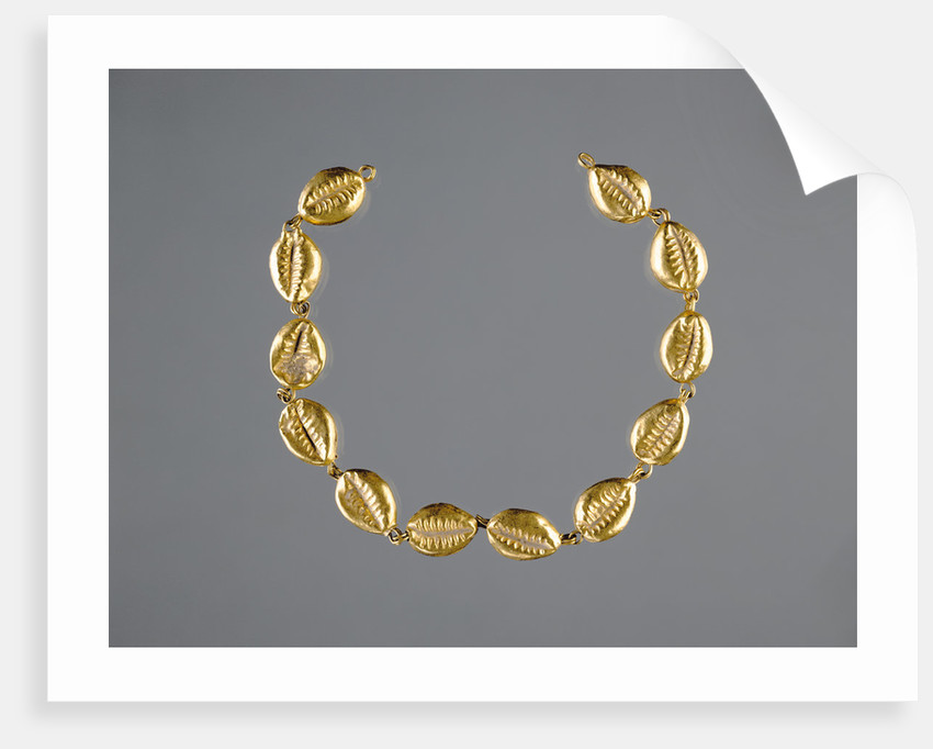 Gold Beads in the Shape of Cowrie Shells by Anonymous