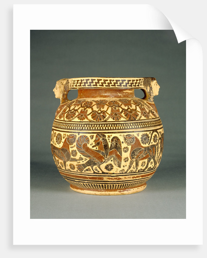 Corinthian Round-Bodied Pyxis by Anonymous