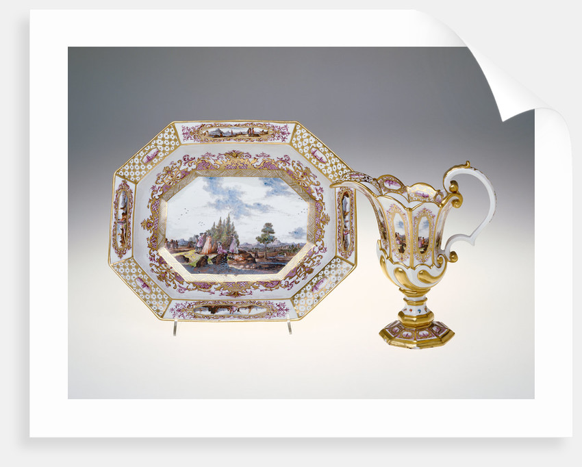Ewer and Basin by Christian Frederich Herold