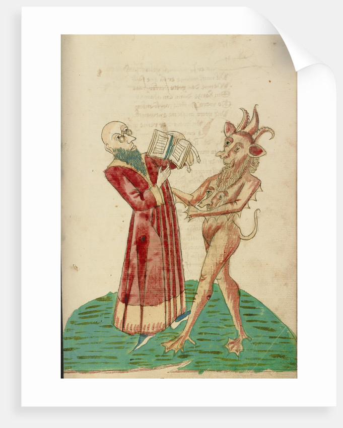 Theodas with the Book of Magic and the Devil by Follower of Hans Schilling