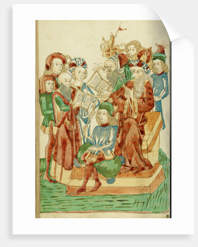 Pagan and Christian Scholars Debating before King Avenir and Josaphat by Follower of Hans Schilling