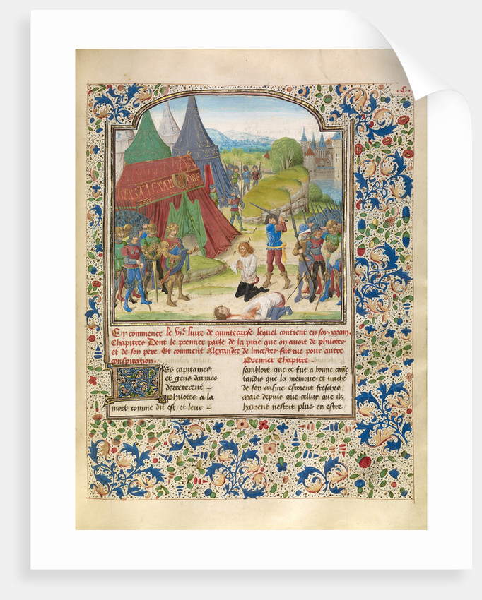 The Execution of Philotas by Master of the Jardin de vertueuse consolation and assistant