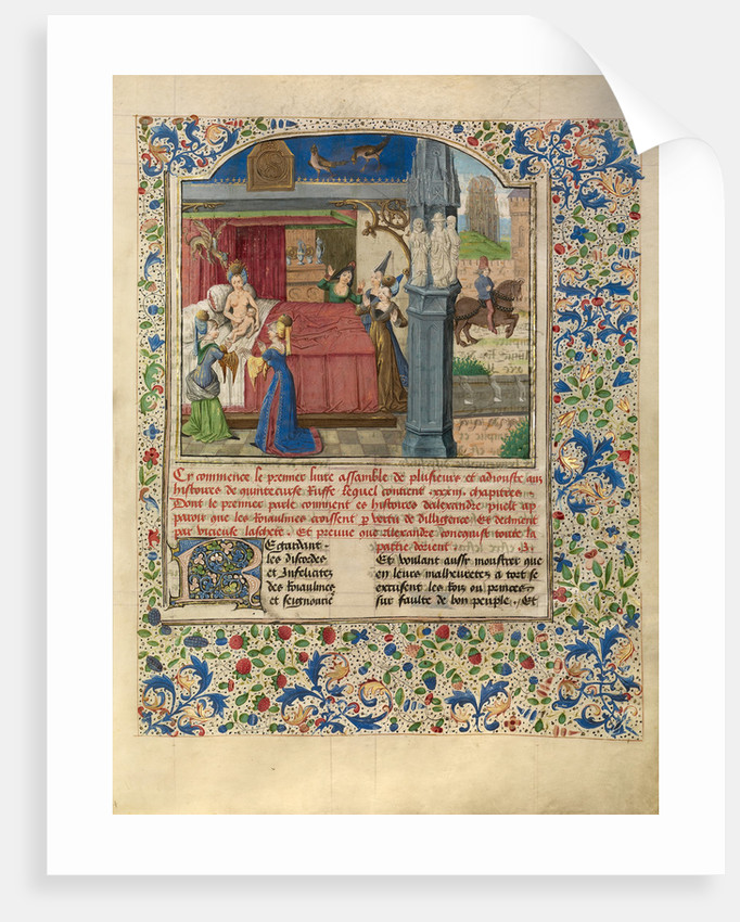 The Birth of Alexander by Master of the Jardin de vertueuse consolation and assistant
