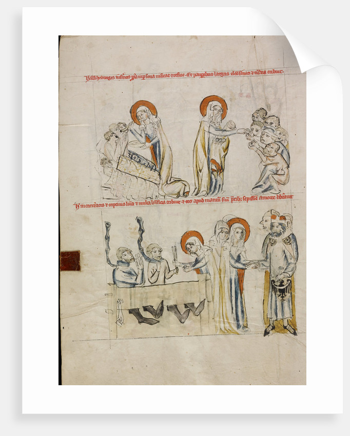 Saint Hedwig Caring for the Sick, Saint Hedwig Caring for Prisoners by Court workshop of Duke Ludwig I of Liegnitz and Brieg