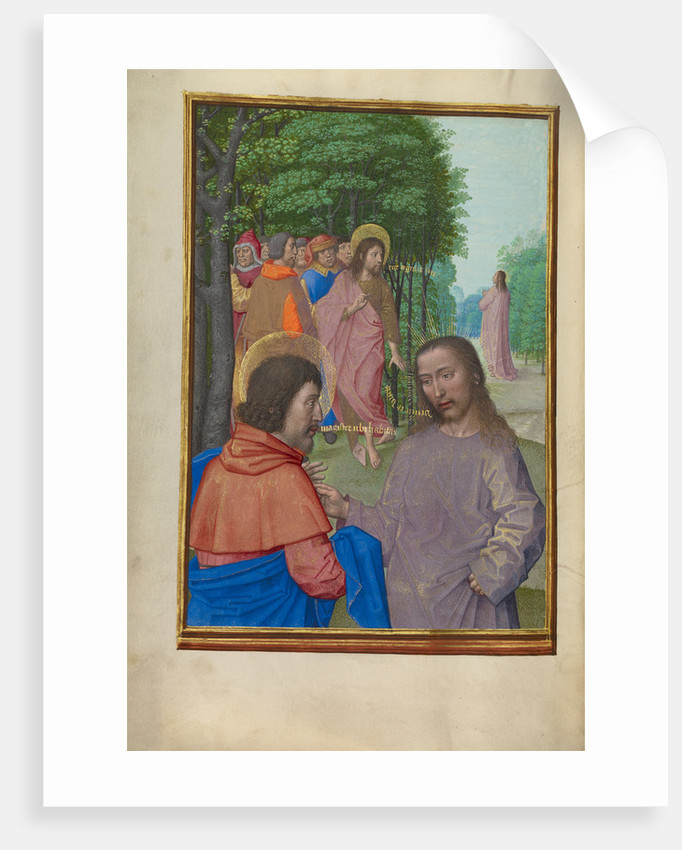 Saint John the Baptist Preaching and Christ with the Apostles by Workshop of Master of the First Prayer Book of Maximilian
