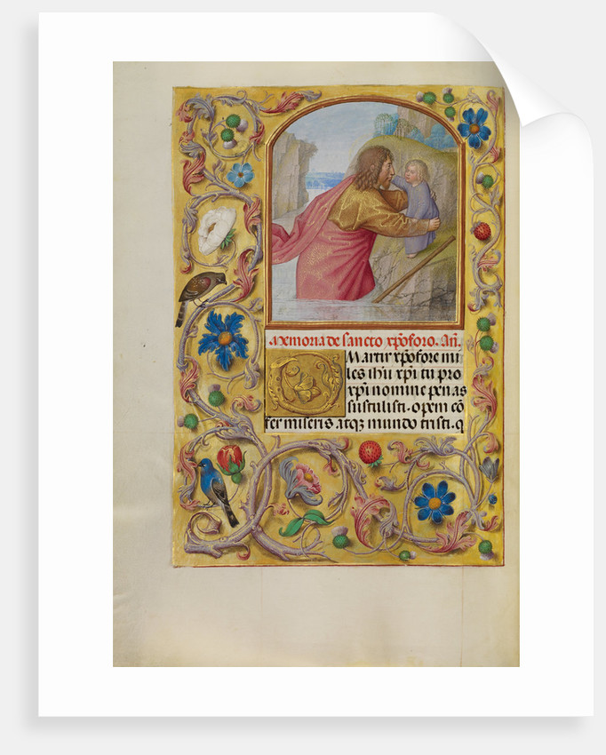 Saint Christopher Carrying the Christ Child by Workshop of Master of the First Prayer Book of Maximilian