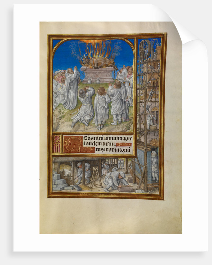 Elijah Begging for Fire from Heaven by Master of James IV of Scotland