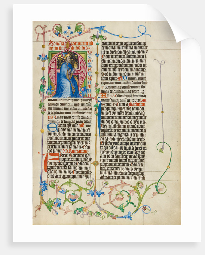 Initial A: King David Enthroned by Master Michael