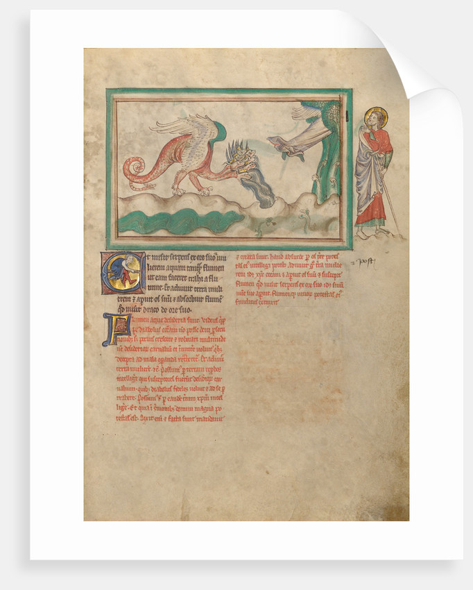 The Dragon Hurls Water after the Woman Clothed in the Sun by Anonymous