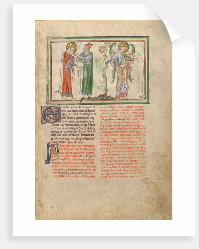 Saint John the Evangelist Consoled by an Elder and by an Angel Holding a Scroll by Anonymous