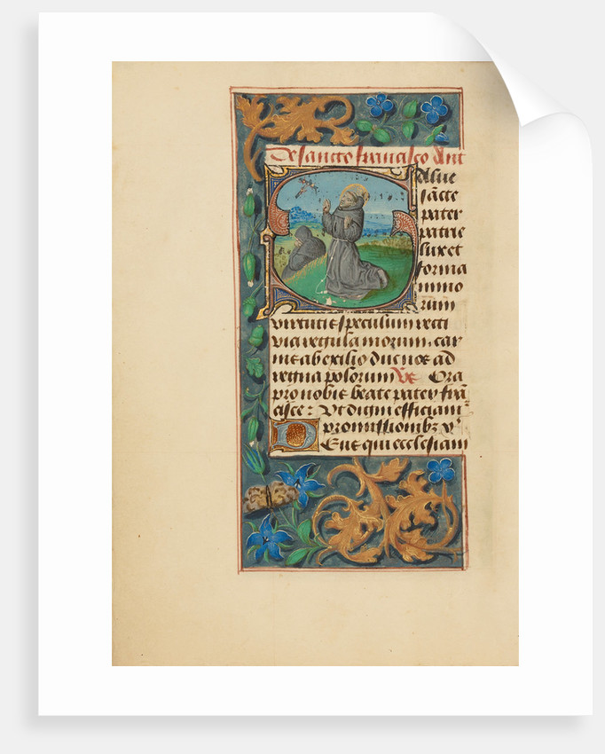 Initial S: The Stigmatization of Saint Francis by Master of the Dresden Prayer Book
