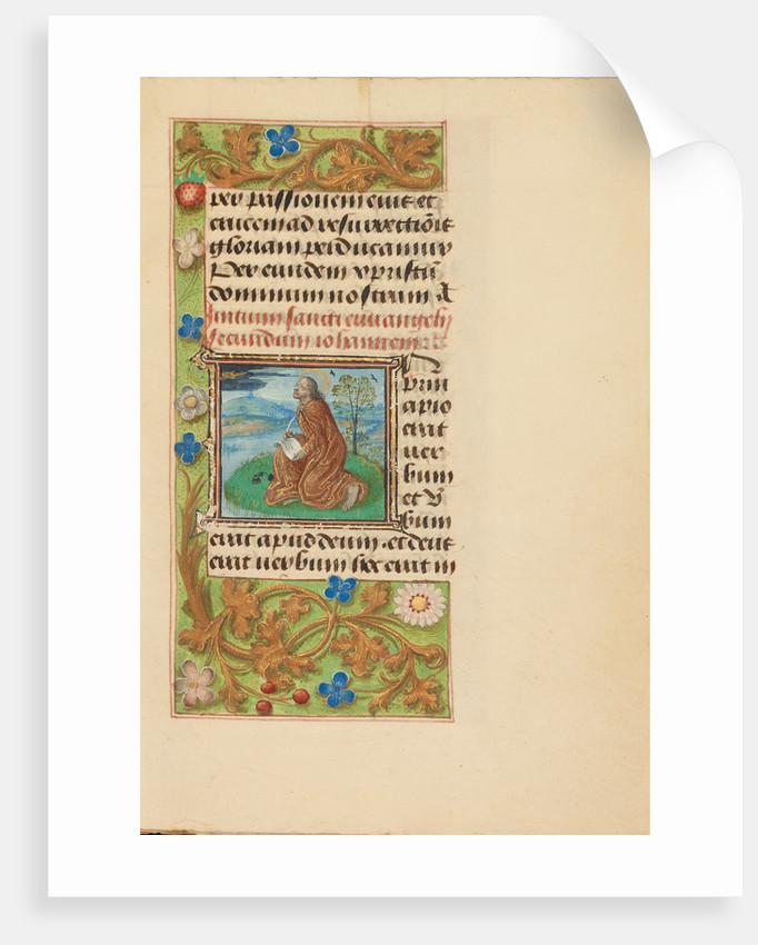 Initial I: Saint John on Patmos by Master of the Dresden Prayer Book