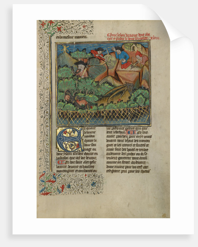 A Hunter and Dogs Pursuing Wild Goats by Anonymous
