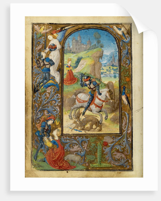 Saint George and the Dragon by Lieven van Lathem