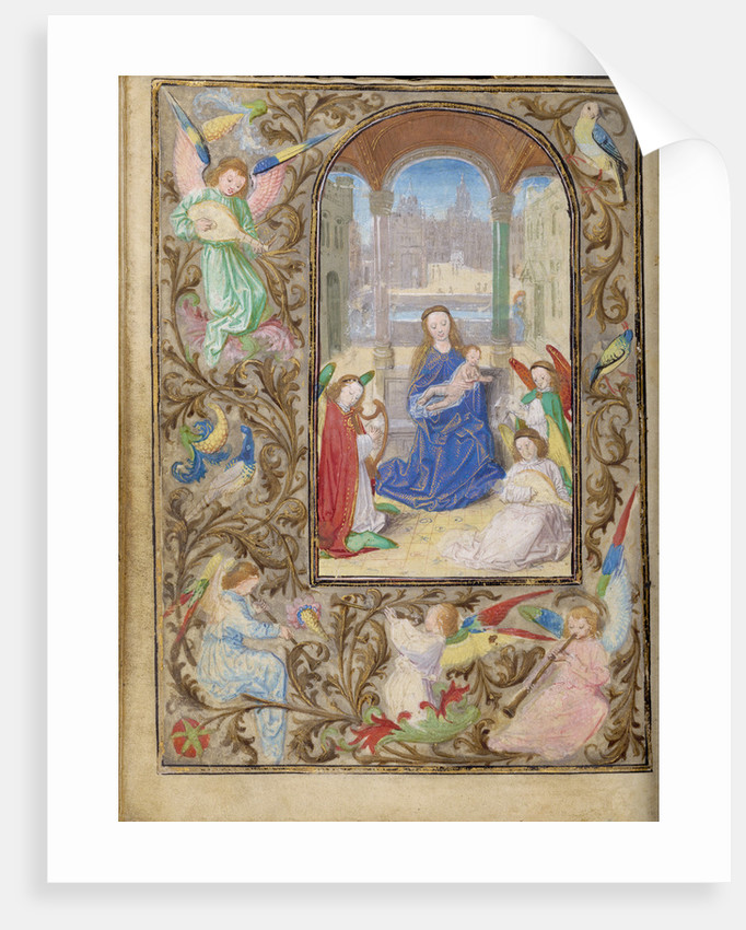 The Virgin and Child with Angels by Lieven van Lathem