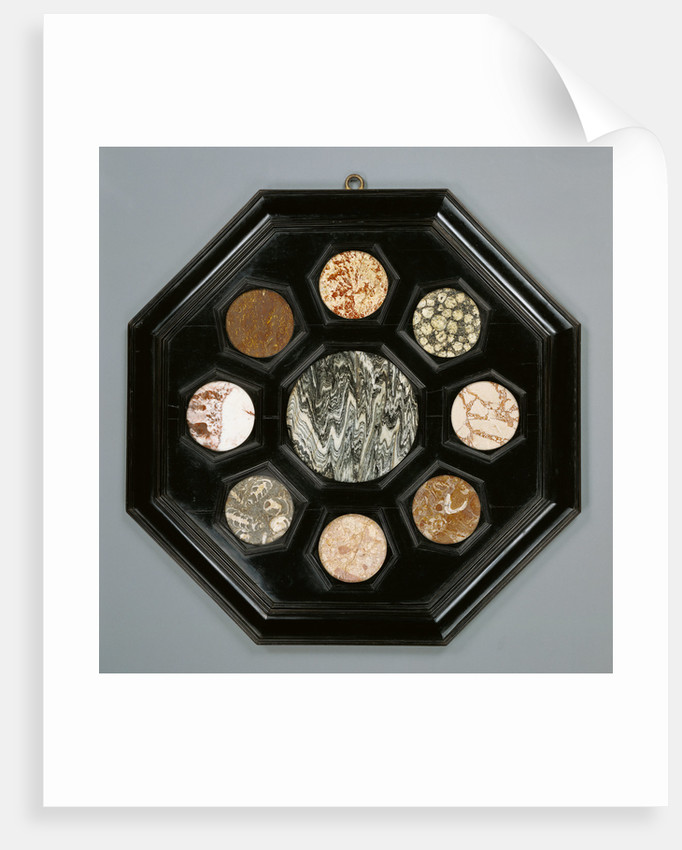 Framed Hardstone Panel by Anonymous