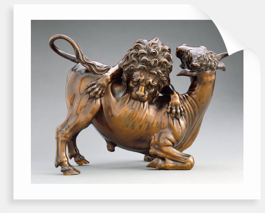 Lion Attacking a Bull by Antonio Susini