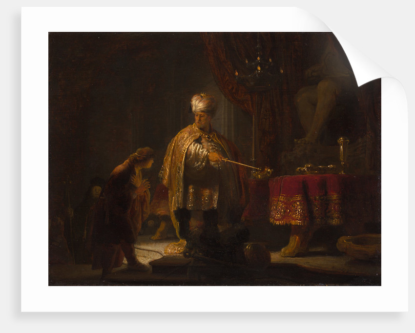 Daniel and Cyrus Before the Idol Bel by Rembrandt Harmensz. van Rijn