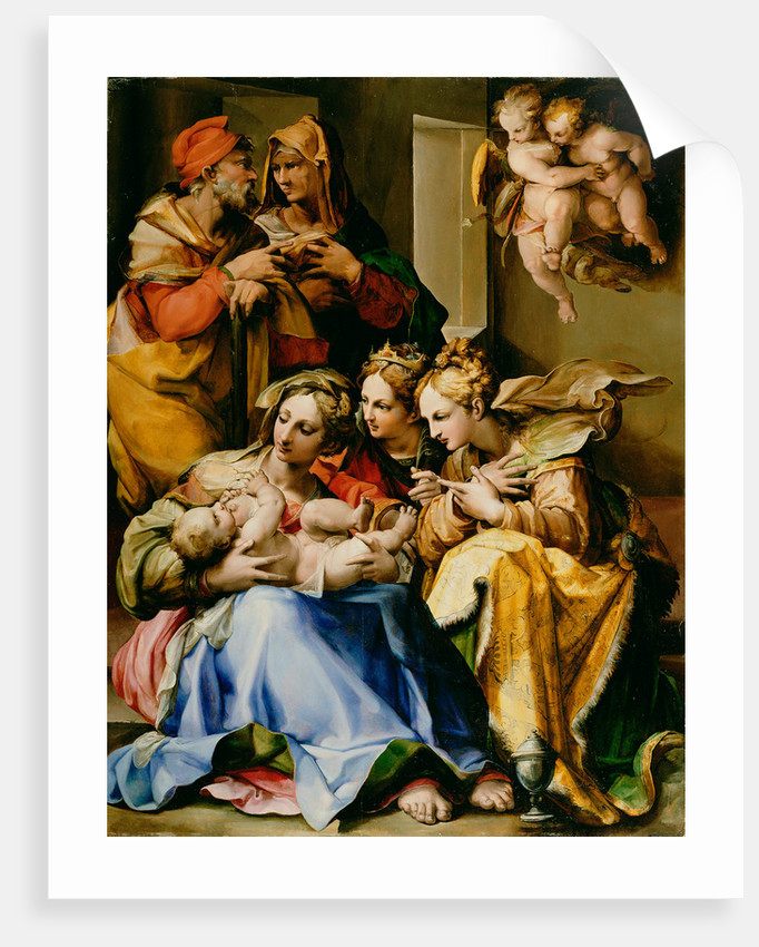 Holy Family with Saints Anne, Catherine of Alexandria, and Mary Magdalene by Nosadella