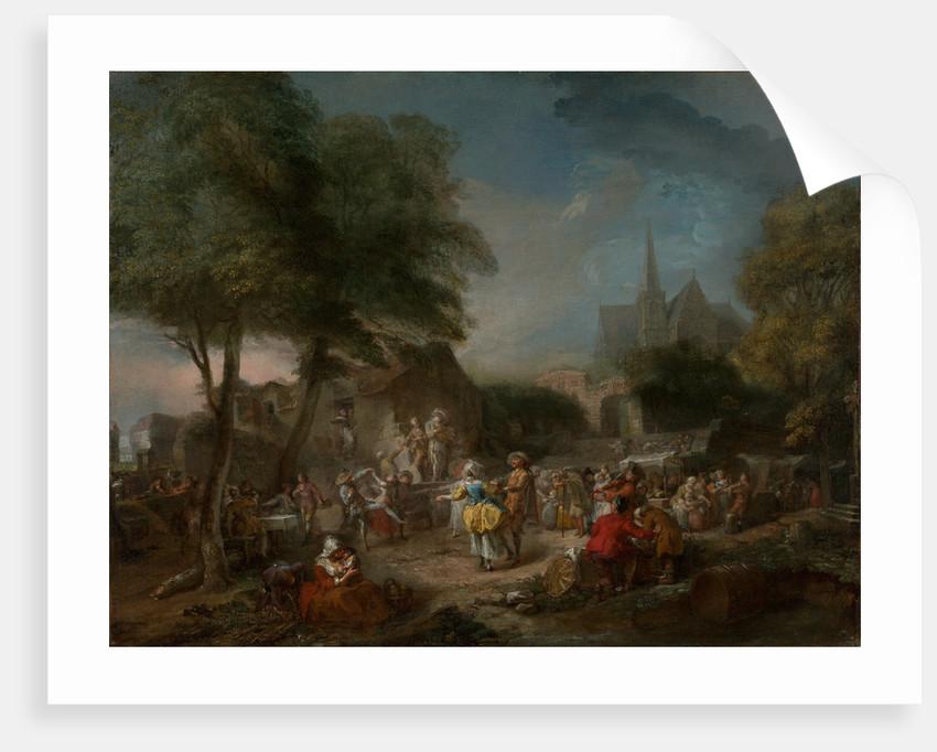 The Country Dance by Gabriel Jacques de Saint-Aubin