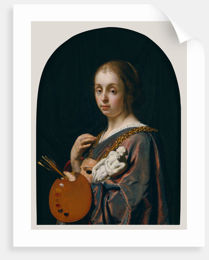 Pictura an allegory of painting posters prints by frans van greetings card pictura an allegory of painting by frans van mieris the elder m4hsunfo
