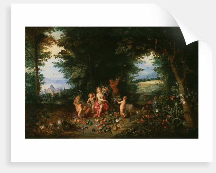Landscape with Ceres (Allegory of Earth) by Jan Brueghel the Younger