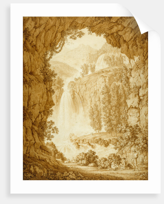 A Shepherd and Muses by a Waterfall by Christoph Henrich Kniep