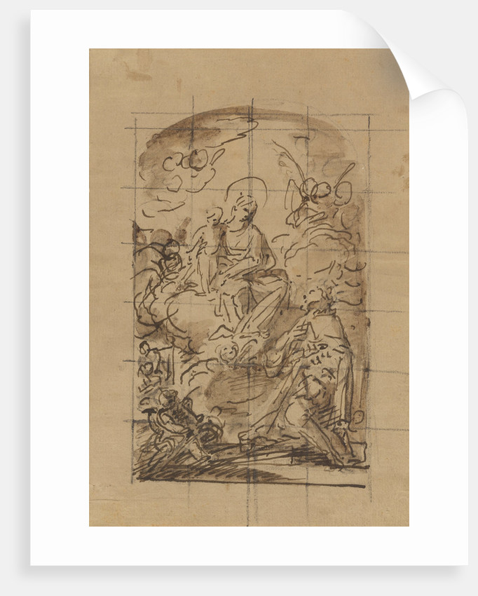 The Apparition of the Virgin and Child to Saint Louis of France by Mariano Salvador Maella