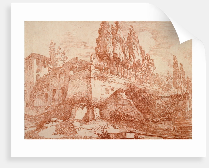 Ruins of an Imperial Palace, Rome by Jean-Honoré Fragonard