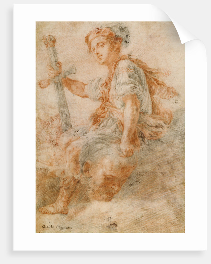 David with the Head of Goliath (recto), Two Studies, one of a Woman (verso) by Domenico Fetti