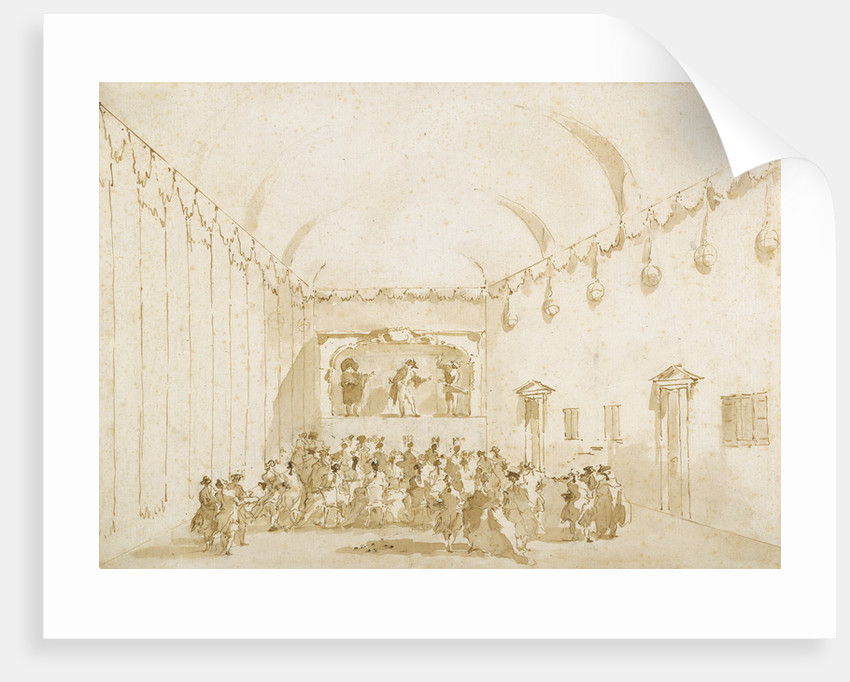 A Theatrical Performance by Francesco Guardi