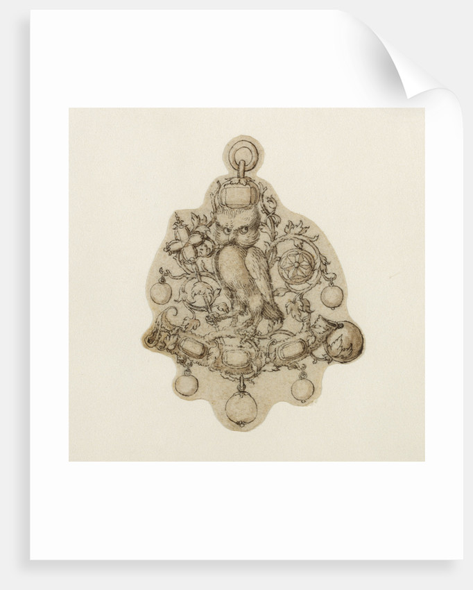 Design for a Pendant Jewel by Theodor de Bry