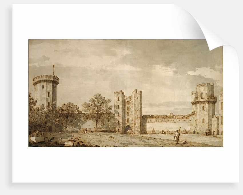 Warwick Castle: The East Front from the Courtyard by Canaletto