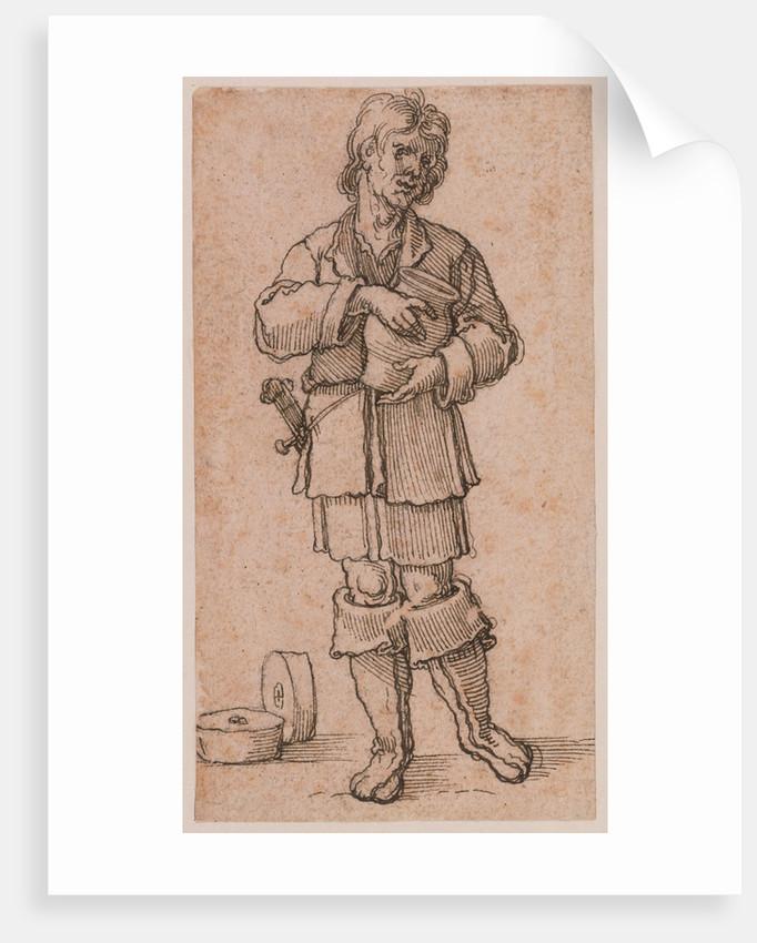 A Young Peasant Holding a Jar by Sebald Beham