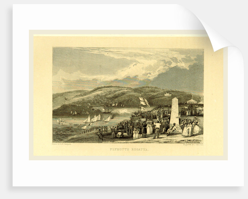 The Picturesque Beauties of Devonshire, Plymouth Regatta by G. B. Campion and T. Bartlett
