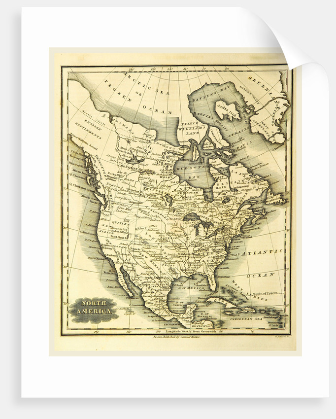 Map of North America by Anonymous