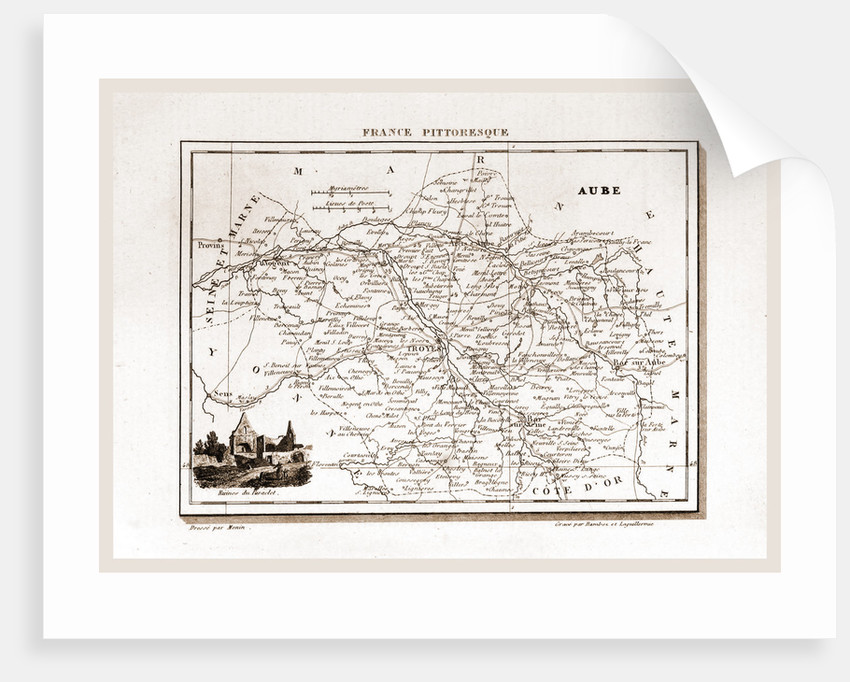 France pittoresque, map Aube by Anonymous