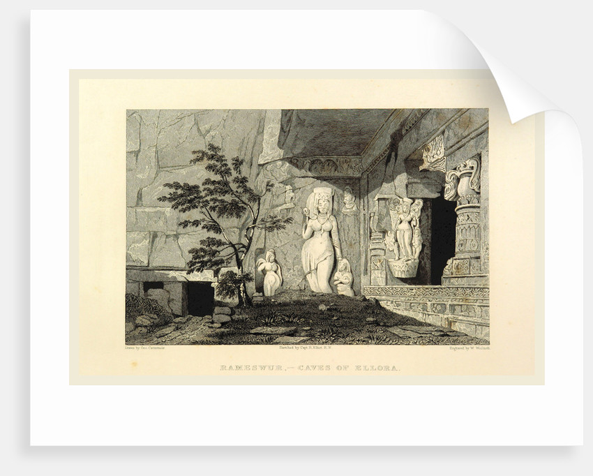 Rameswur, caves of Ellora, Views in India, China, and on the Shores of the Red Sea by Anonymous