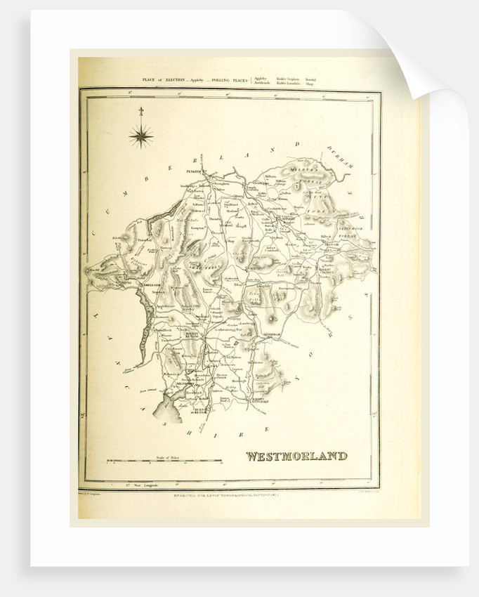Map Westmoreland UK by Anonymous